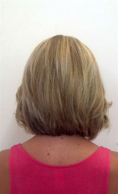 common mediumlength hair styles back views medium length stacked bob hairstyles back view