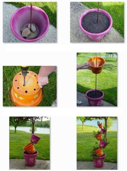 como decorar macetas de jardin c 243 mo decorar macetas de pl 225 stico macetas pinterest