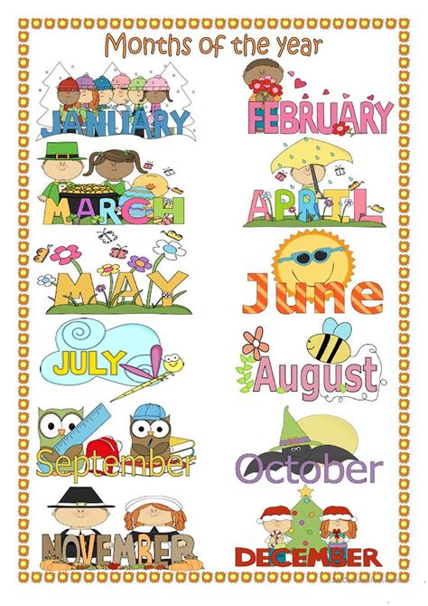 esl printable worksheets months of the year months of the year worksheet free esl printable