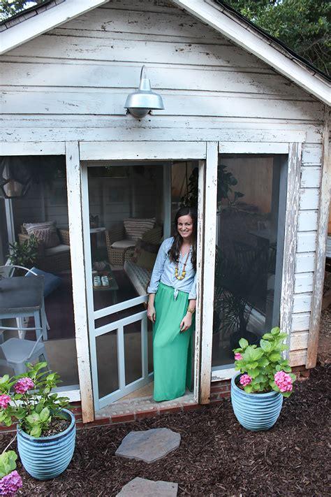 shed turned boho screened porch thewhitebuffalostylingco