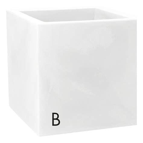 vaso resina bianco vaso nicoli in resina di polietilene modus quadro