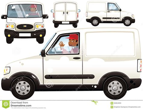 small delivery van and driver stock image image 65654933