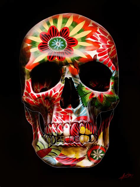 sugar skull painted skulls by gerrard king