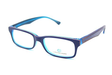 genuine made frame fashion blue creative glasses