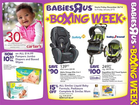 babies r us deals babies r us canada boxing week 2014 flyer sales and deals