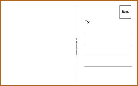 backside of postcard template 8 9 postcard back template resumesheets