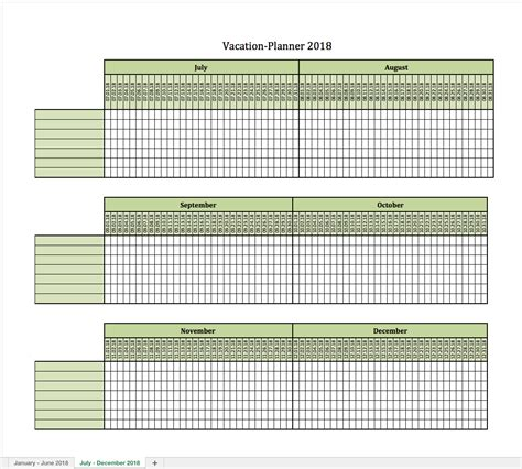vacation planning calendar template vacation planner 2018 excel templates for every purpose