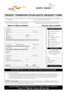 Freight Forwarder Quote Template by Shipment Request Form Related Keywords Suggestions