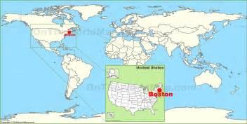boston usa map earth boston on the world map