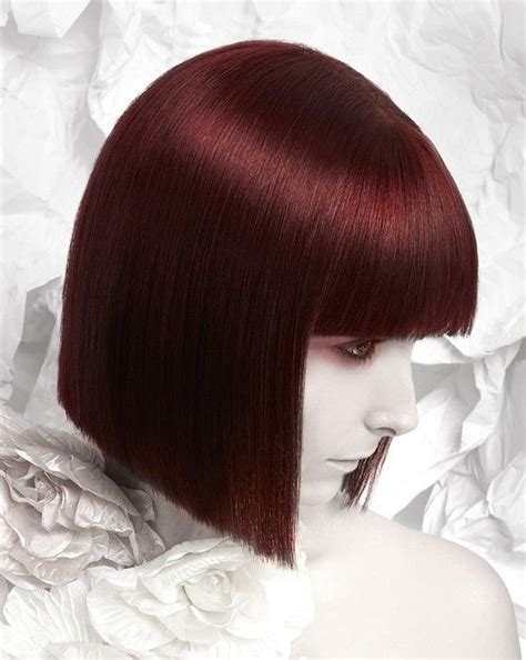 rich brown bob hair styles hair by craig chapman rich red blunt bob pour les
