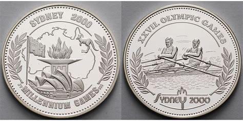 Shp Olimpiade Xxvii Sydney 2000 266 10 19g fein 30mm 216 deutschland medaille in silber xxvii