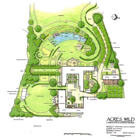 Masterplan Of Country Garden Design By Acres Wild Garden Design Layout