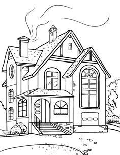 modern house coloring page house clipart coloring black white clipartion com