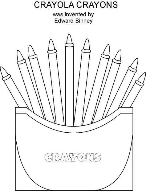 Free Coloring Pages Of Crayons Crayon Coloring Pages Printable