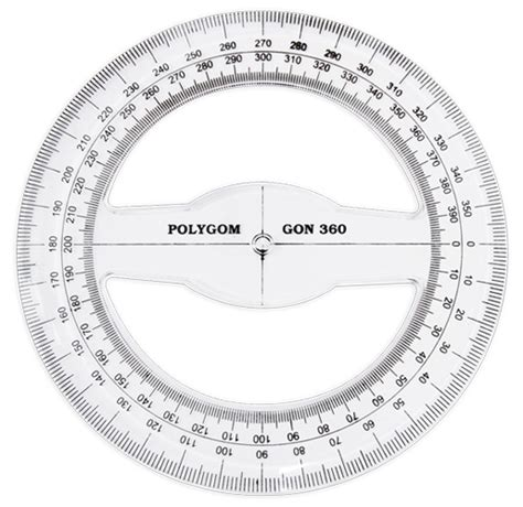 360 Degree Protractor Template 6 best images of printable 360 degree circle printable