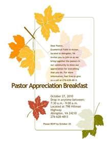 Invitation Letter Pastor Appreciation pastor appreciation invitation letter pattern pastor appreciation