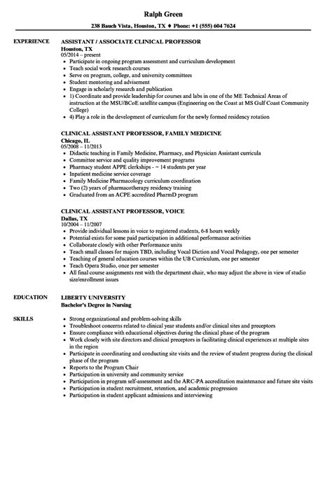 resume templates for assistant professor resume templates sle for fresher assistant professor in
