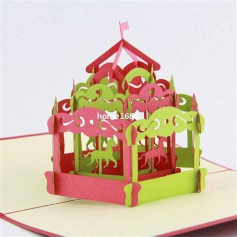 diy carousel pop up card template carousel pop up card 3d greeting card handmade