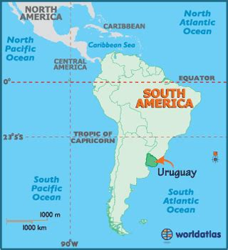 uruguay on a world map uruguay map geography of uruguay map of uruguay