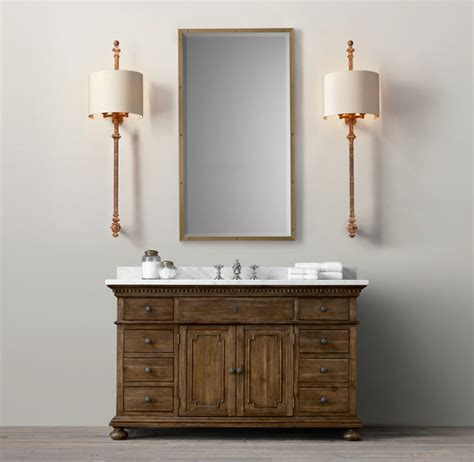 bathroom vanity restoration hardware st james vanity sink traditional bathroom vanities