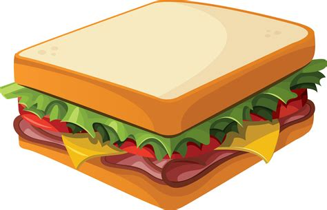 cartoon png cartoon sandwich png vector clipart