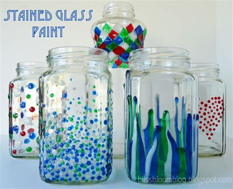 Painting Glass Jars make painted stained glass