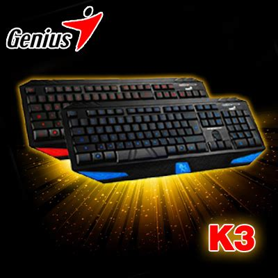 genius k3 gaming keyboard blue color backlight keybaord backlit keyboard free fast shipping in