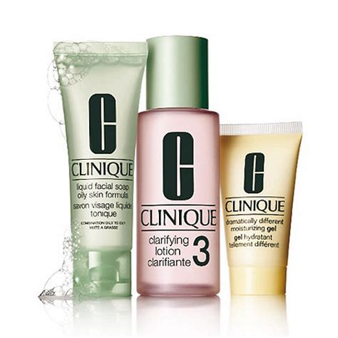 Set Clinique clinique 3 step introduction skincare gift set debenhams
