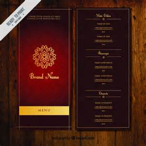 photoshop menu templates ornamental menu template with golden ornament vector