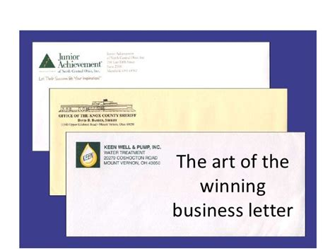 business letters slideshare how to write business letters