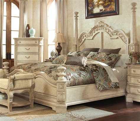 ortanique sleigh bedroom set ortanique cal king poster bed by millennium