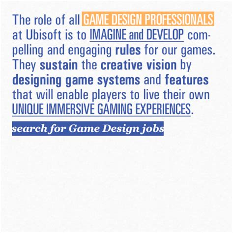 game design work experience ubisoft careers the ubisoft experience