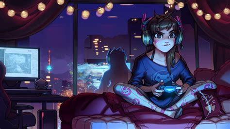 official overwatch 2018 wall dva overwatch cute artwork hd games 4k wallpapers images backgrounds photos and pictures