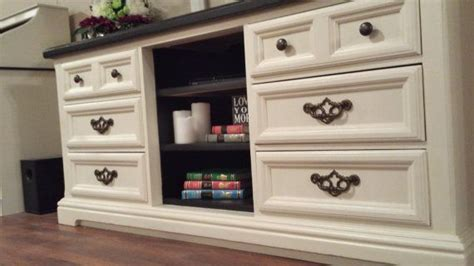 How To Turn Dresser Into Entertainment Center by Up Cycled Dresser Turned Into Entertainment Center By