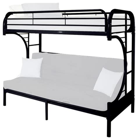 lower bunk beds black metal size bunk bed with lower futon sleeper