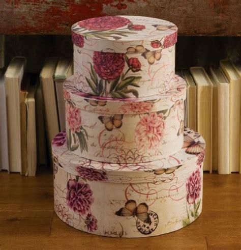 decorative hat boxes light floral pink w butterflies decorative hat boxes