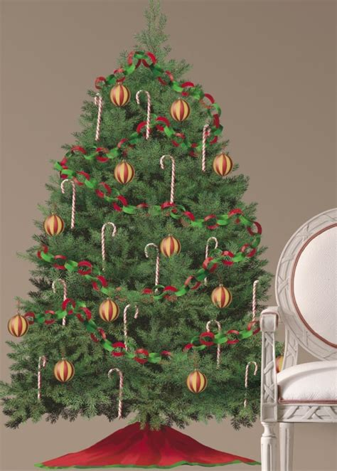 christmas tree peel and stick wall decals