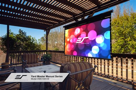 Proyektor Outdoor yard master manual series outdoor projector screens elite screens