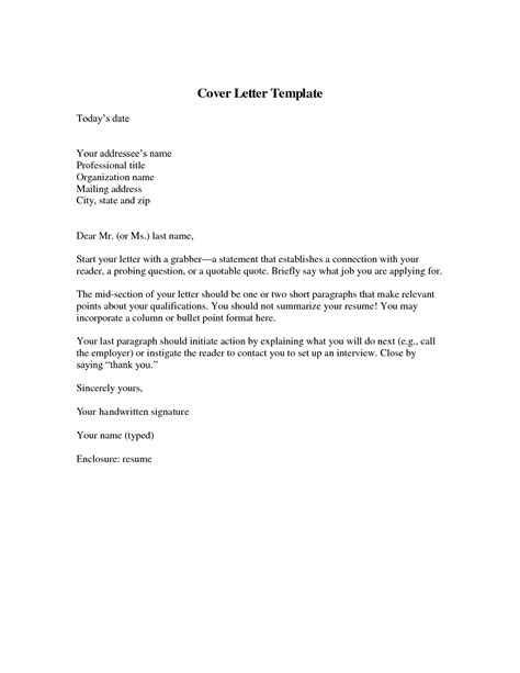 exle cover letter and resume what should be in a cover letter for a resume 28 images