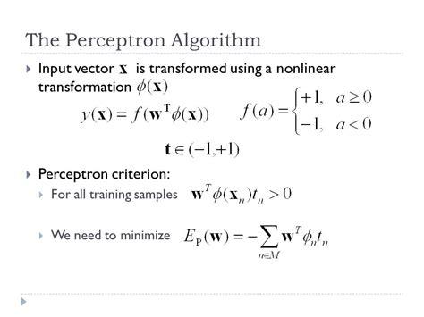 pattern classification using ann pattern classification using perceptron ppt linear models