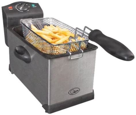 stainless steel fryer 3 litre chips side handles