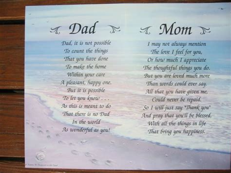 poems for parents and poems i you and personalized