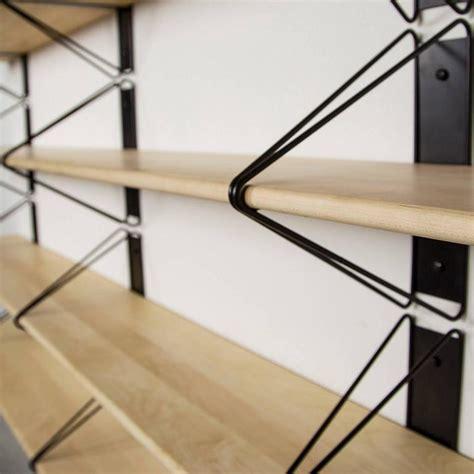 modern wall mounted shelves set of 4 strut shelves from souda modern black wood wall