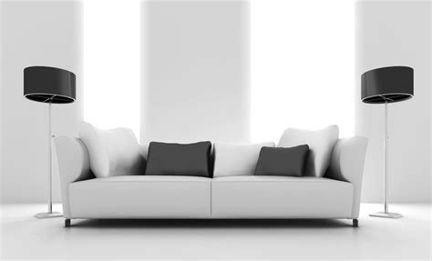 Couch In Dining Room by Gray Sofa And Floor Lamp