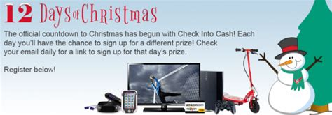 Sweepstakes Check - check into cash quot 12 days of christmas give away quot sweepstakes win a leappad ultra