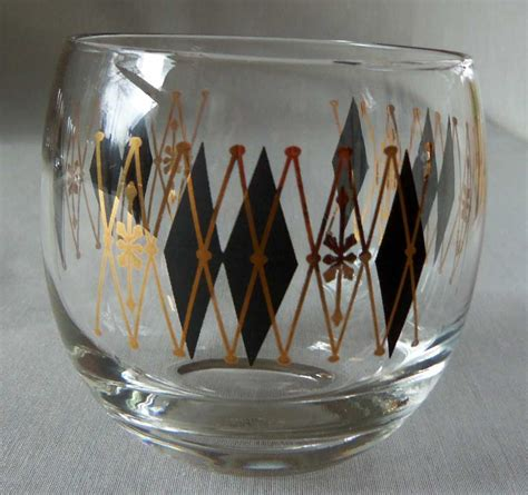 Bar Glasses Set Mid Century Bar Glass Set With Serving Caddy Omero Home