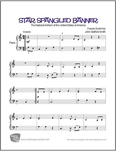 printable star spangled banner sheet music star spangled banner easy piano sheet music digital print