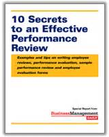 10 secrets to an effective performance review exles