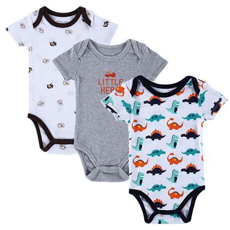 Bodysuit Jumper Baby 3pcs baby bodysuits 3pcs 100 cotton infant bebes