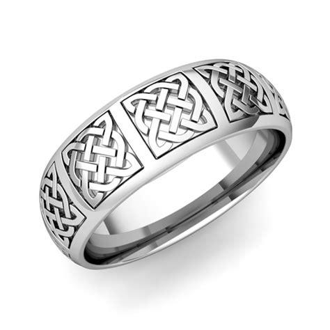 mens celtic knot wedding band his platinum comfort fit